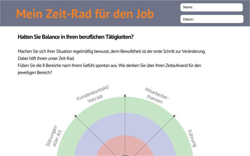 Vorschaubild, Zeit-Rad, Tool, Job, Führung