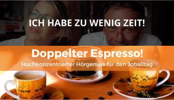 Cover Doppelter Espresso Folge Zu wenig Zeit, Führung