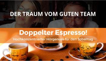 Cover Doppelter Espresso Folge, Team, Führung
