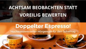 Cover Doppelter Espresso Folge, beobachten, bewerten, Führung