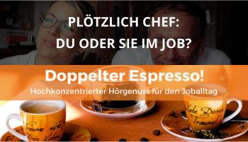 Cover Doppelter Espresso Folge, Du oder Sie, Führung