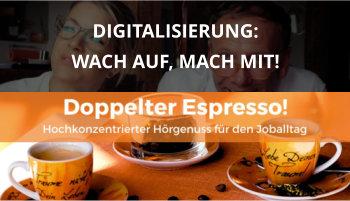 Cover Doppelter Espresso Folge, Digitalisierung, Führung