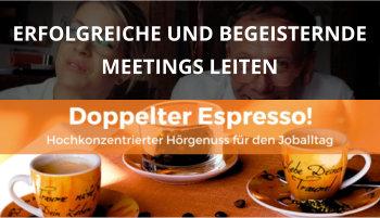 Cover Doppelter Espresso Folge, Meetings leiten, Führung