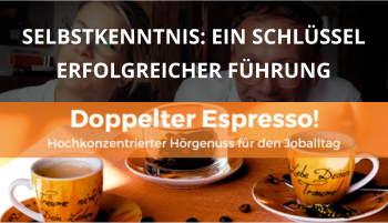 Cover Doppelter Espresso Folge 18, Selbstreflexion, Führung