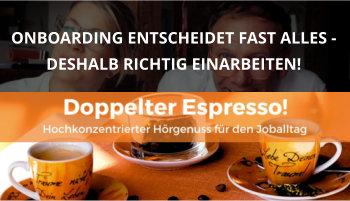 Cover Doppelter Espresso Folge 19, Onboarding, Führung