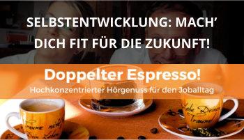 Cover Doppelter Espresso Folge 20, Selbstentwicklung, Führung