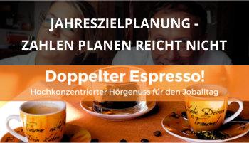 Cover Doppelter Espresso Folge 22, Jahreszielplanung, Führung