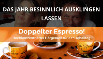 Cover Doppelter Espresso Folge 27, Besinnung