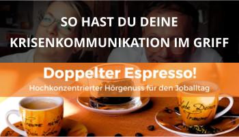 Doppelter espresso Podcast Folge 36 cover krisenkommunikation corona