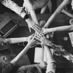 Teamarbeit, Hände, Zusammenhalt